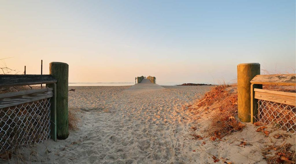 Walnut Beach at sunrise Milford Connecticut