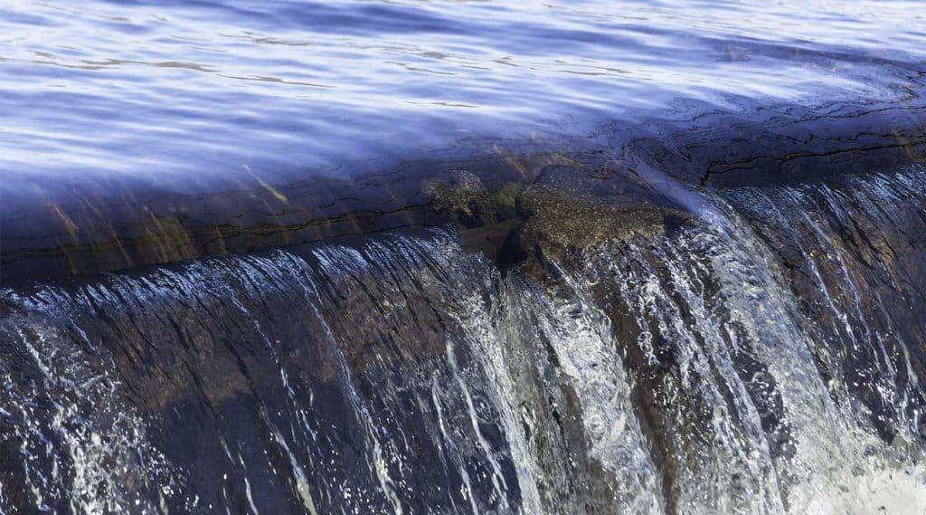 waterfall dam in Ballerica, Massachusetts