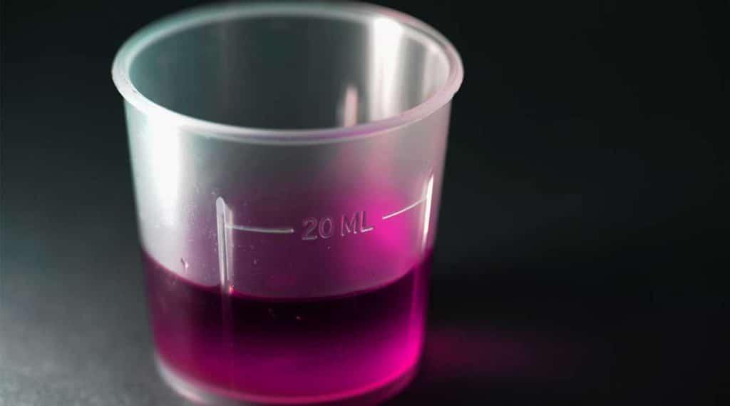 pink purple codeine cough syrup