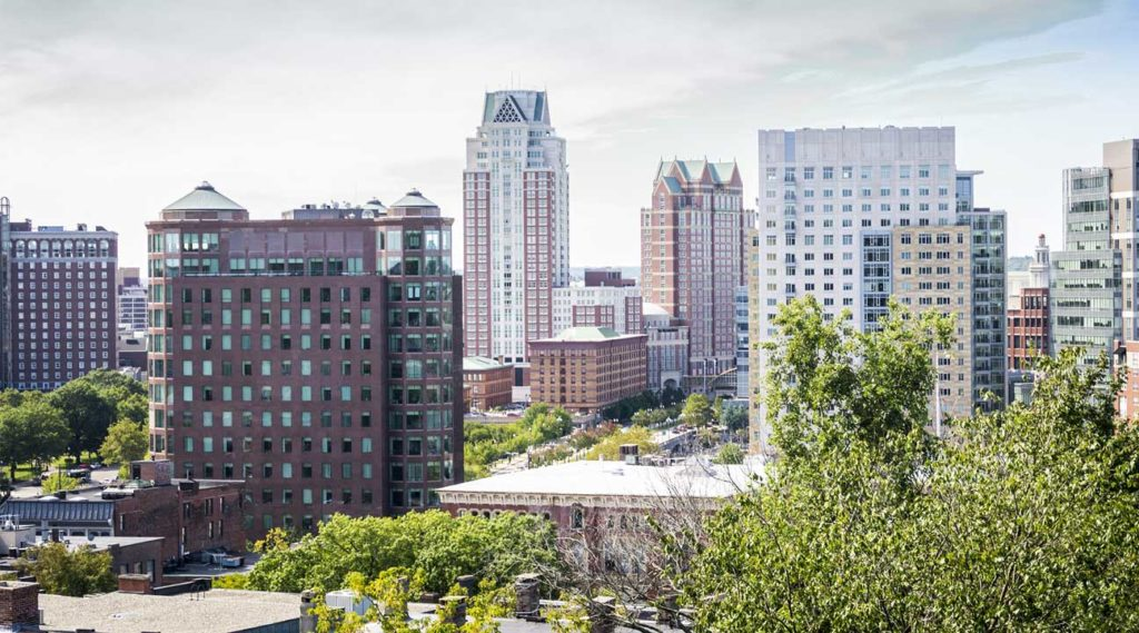 East buildings in downtown Providence, Rhode Island