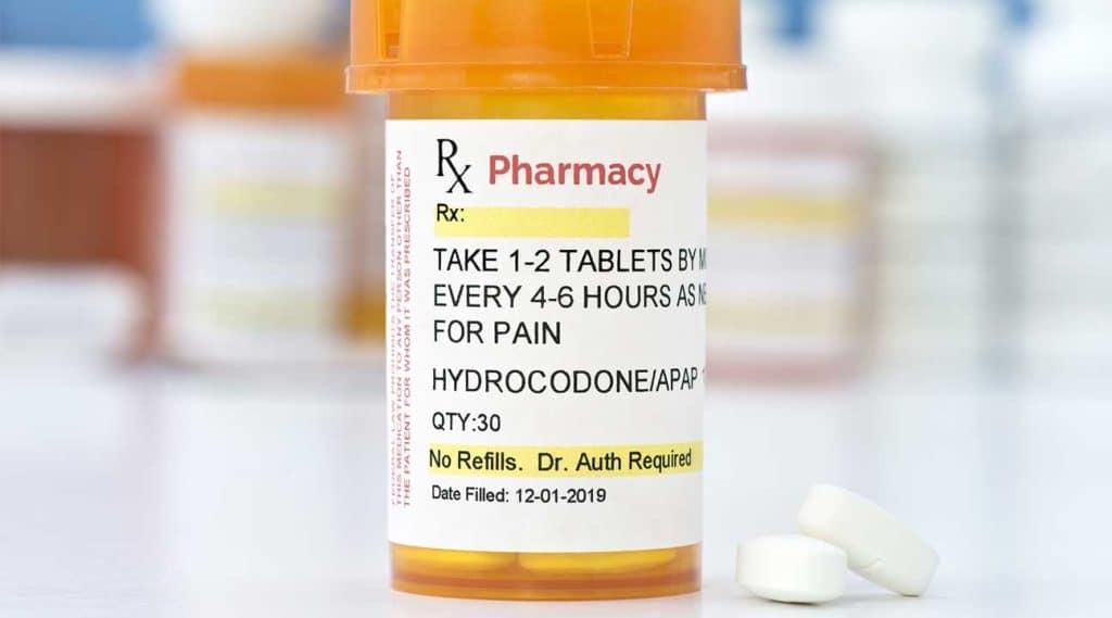hydrocodone pill bottle