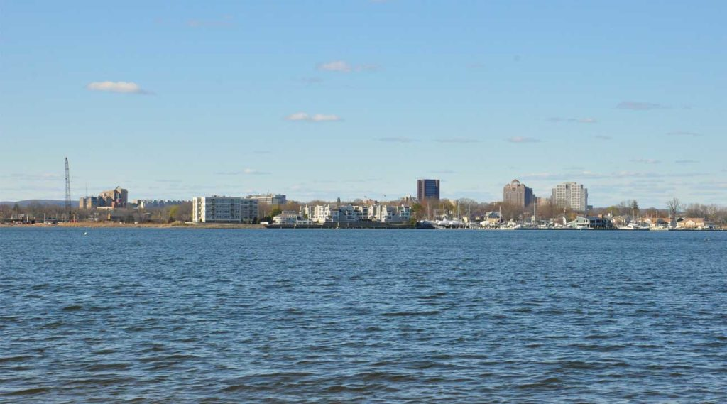 shoreline in West Haven, CT