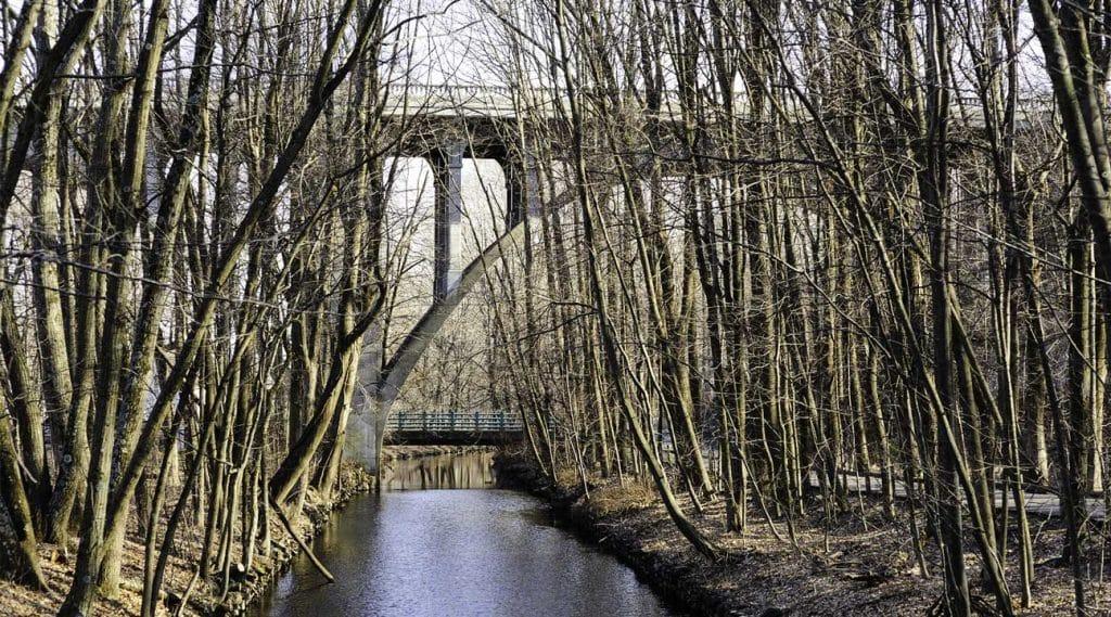river canal in Cumberland, Rhode Island