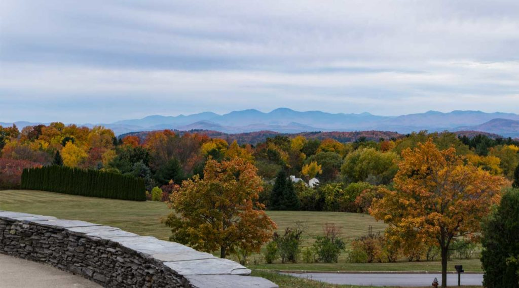 park in Autumn near South Burlington, Vermont