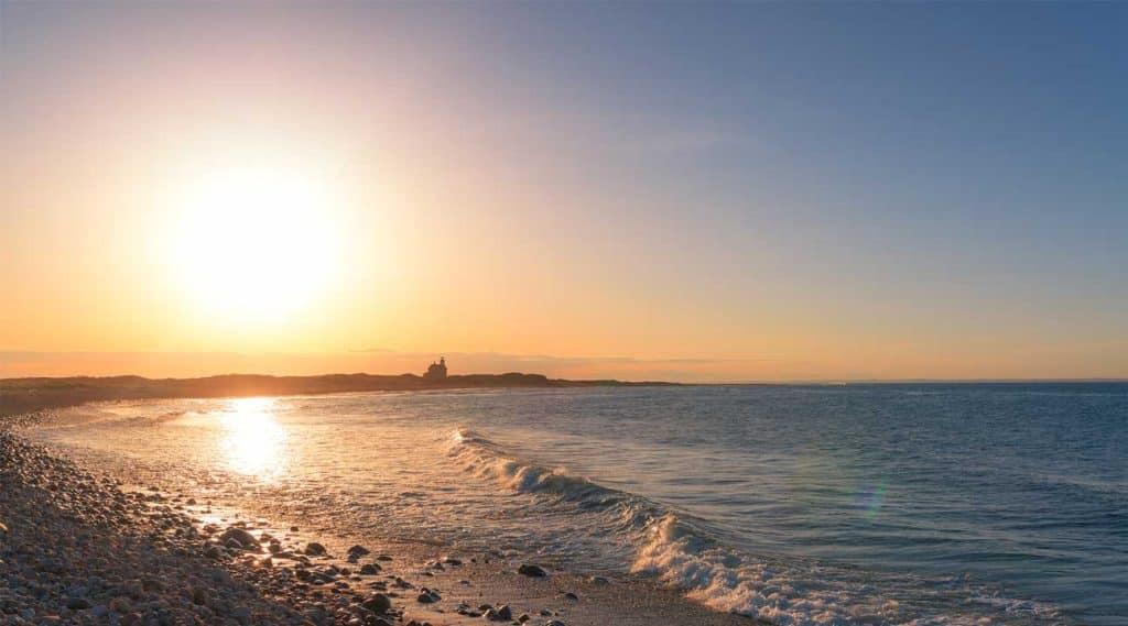 beach in South Kingston, Rhode Island at sunsrise