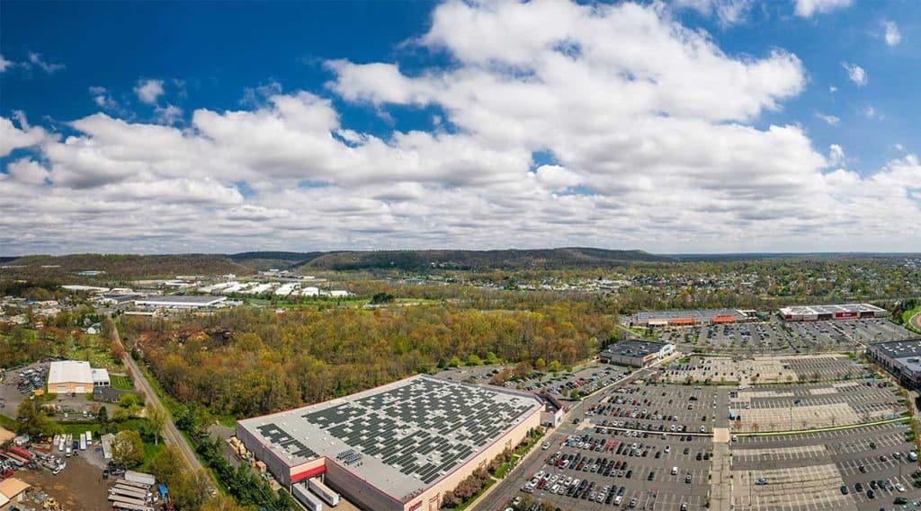 aerial view of Bridgewater, New Jersey