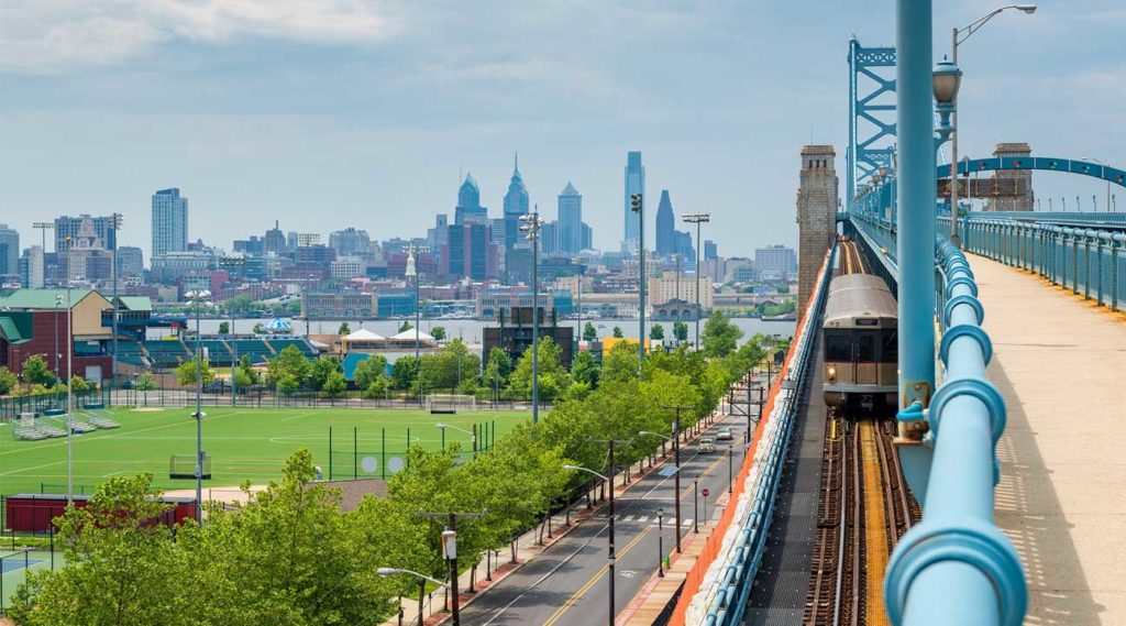 view of the city from Franklin, New Jersey