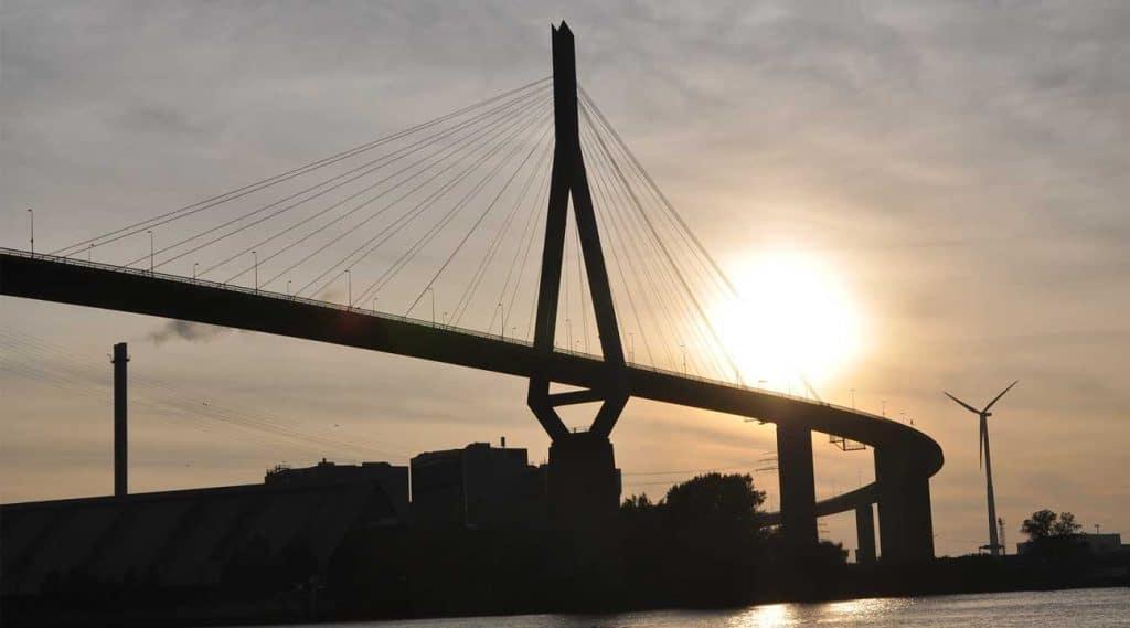 harbor bridge in Freeport, New York