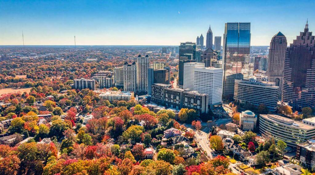 aerial view of Atlanta Georgia