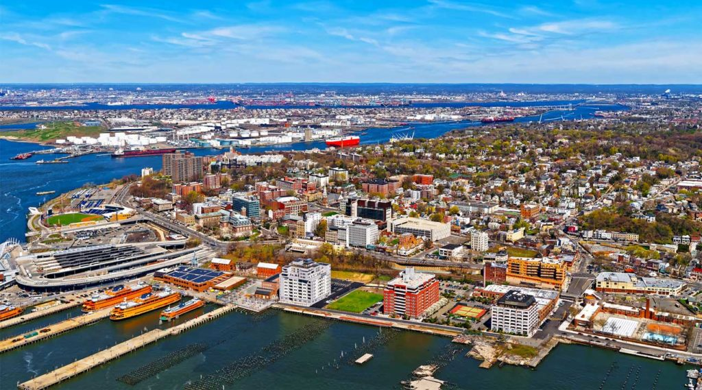 aerial view of Hackensack, New Jersey