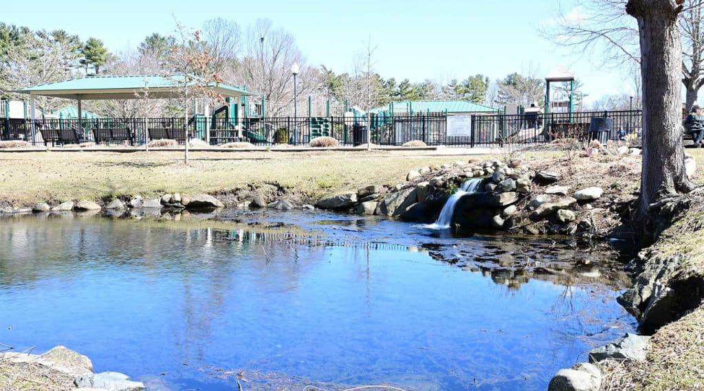 a pond in a park near Huntington New York