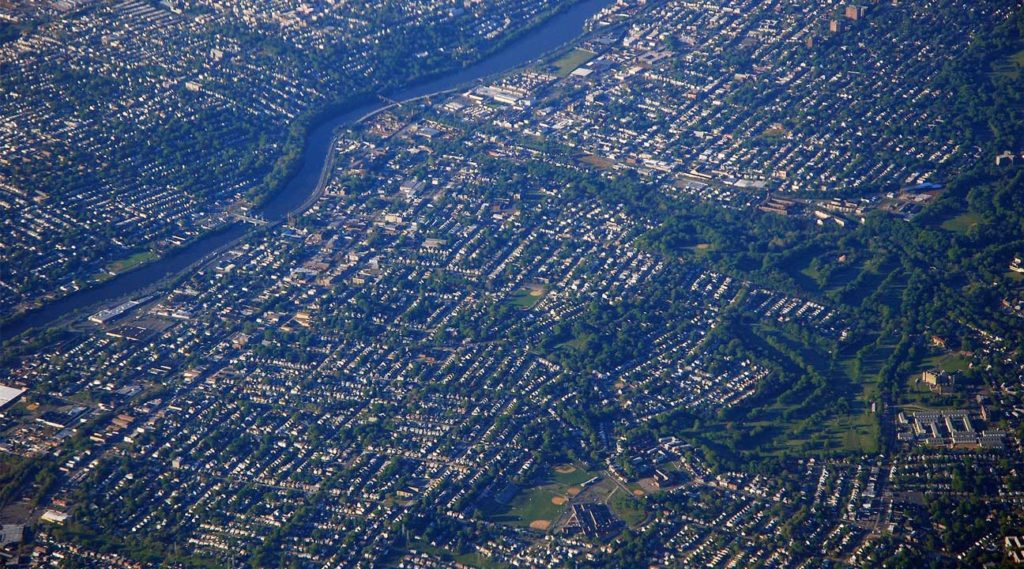 aerial view of Kearney New Jersey