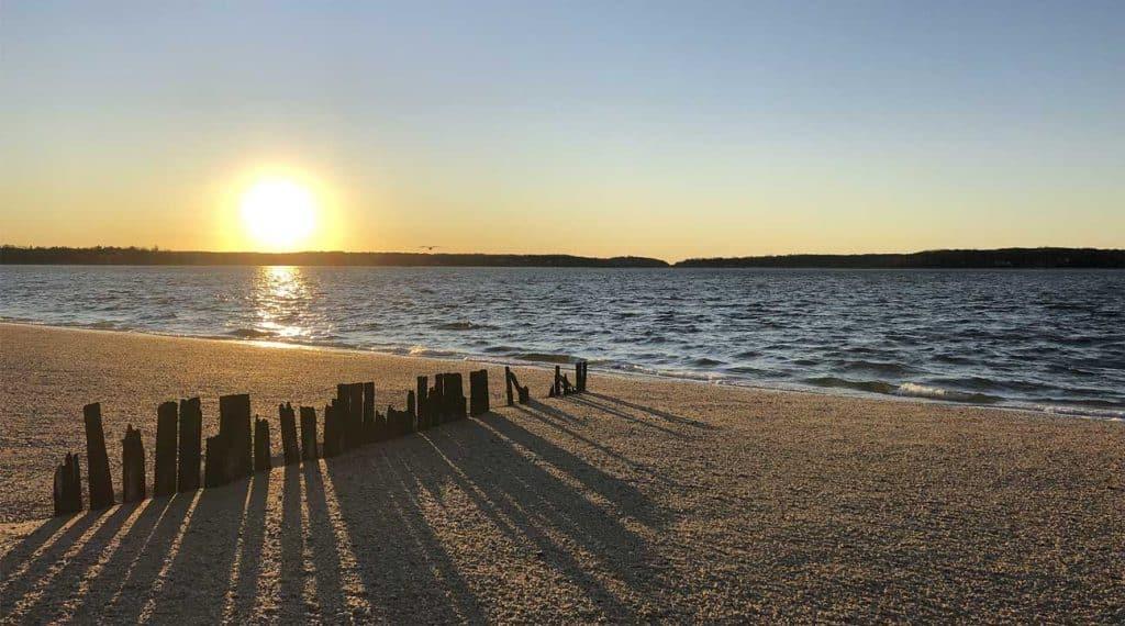 Long Beach, New York at sunset