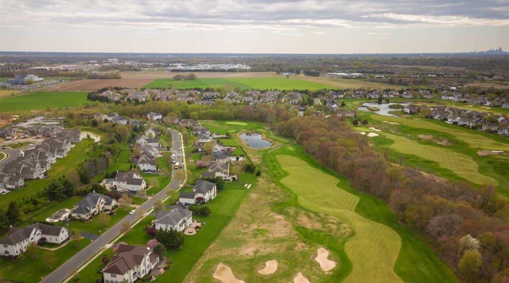 Aerial view of Mount Laurel, New Jersey