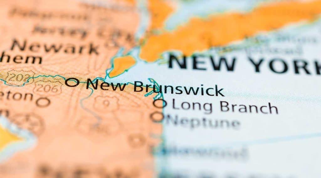 Map of New Brunswick, New Jersey