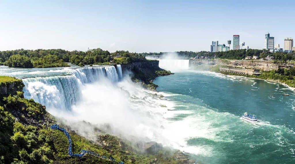 aerial view of Niagara Falls New York
