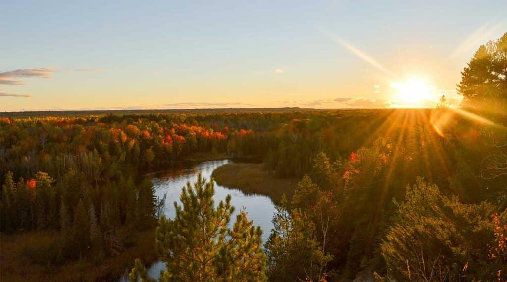Michigan landscape at sunrise