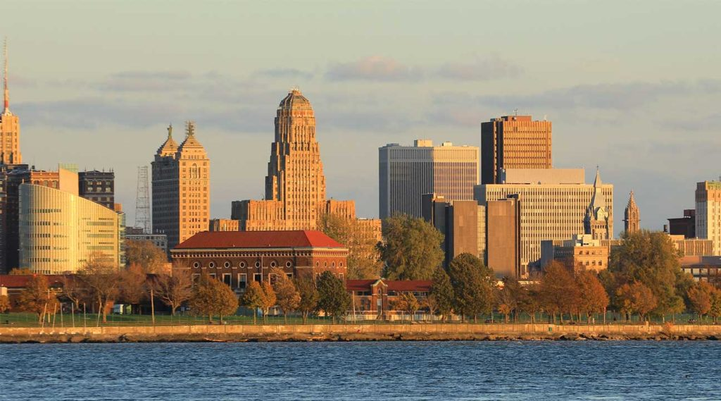 view of downtown Buffalo, New York on the water
