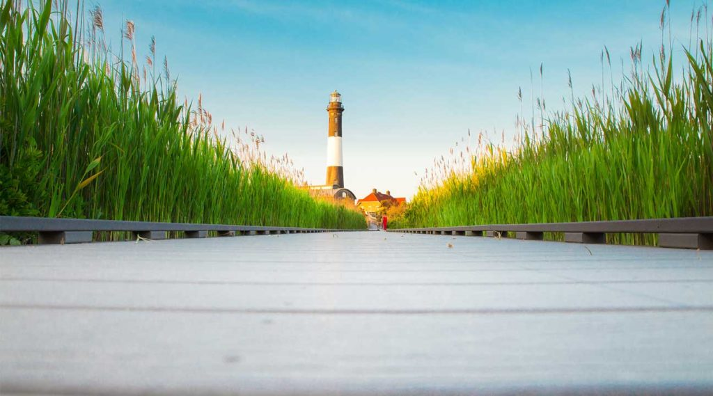 Lighthouse off the coast of New York Near Valley Stream New York